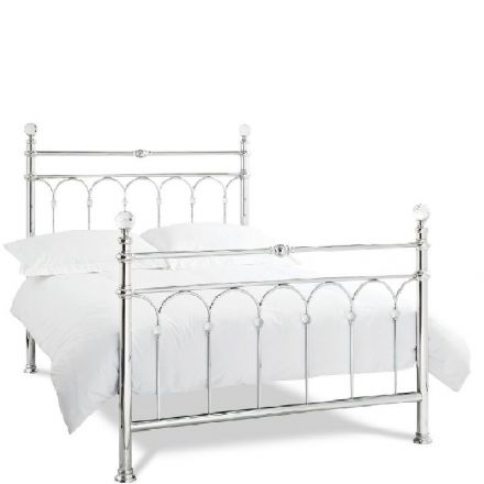 Krystal Shiny Chrome King-Sized Bedstead